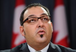 New Democrat MP Glenn Thibeault left the federal NDP to run for the provincial Liberals. In this 2011 file photo, he speaks at a press conference in Ottawa.