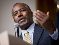 Photo - The organization of Carson's supporters helped him win the Southern Republican Leadership Conference's straw poll in Oklahoma City. (AP)