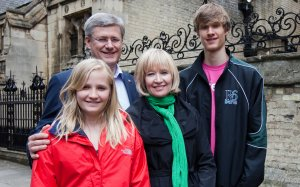 Prime Minister Stephen Harper and his family