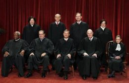 The justices of the US Supreme Court.