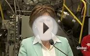 Moment BC Liberal Party leader Christy Clark declared war