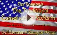 Ron Paul, Reagan and Goldwater - The TRUE CONSERVATIVE